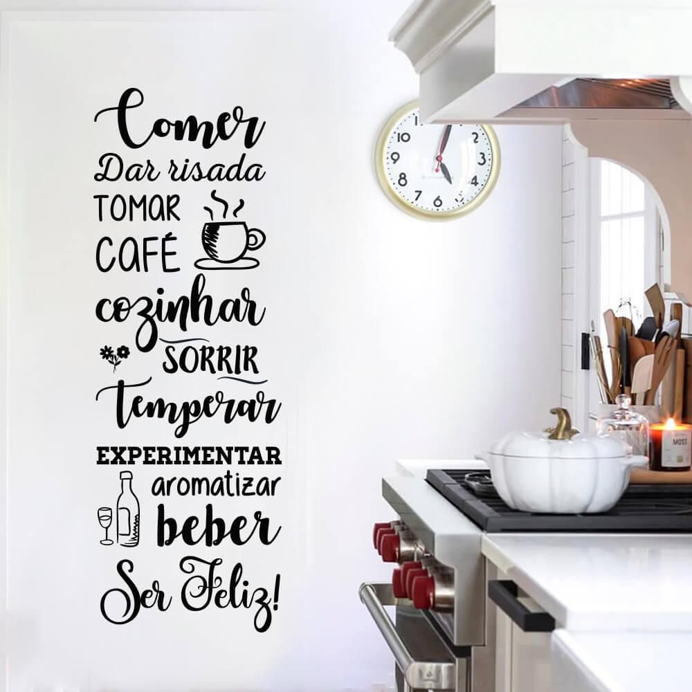 Adesivo Decorativo de Parede Frases Cozinha