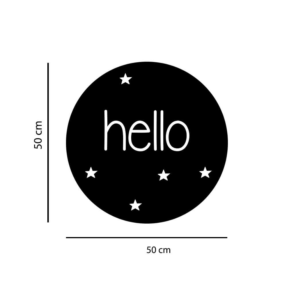 Adesivo Decorativo de Parede Hello