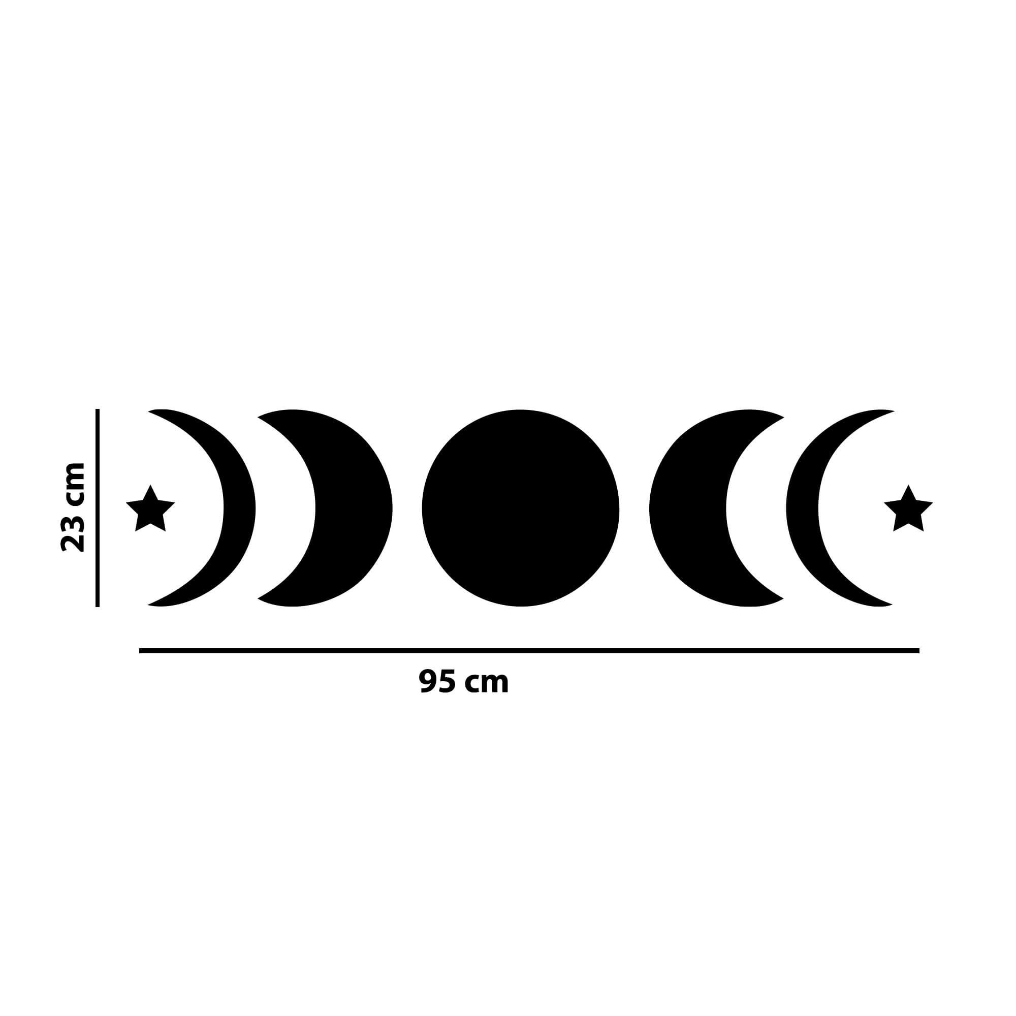 Adesivo Decorativo Fases da Lua Decoração Mística Sala Quarto