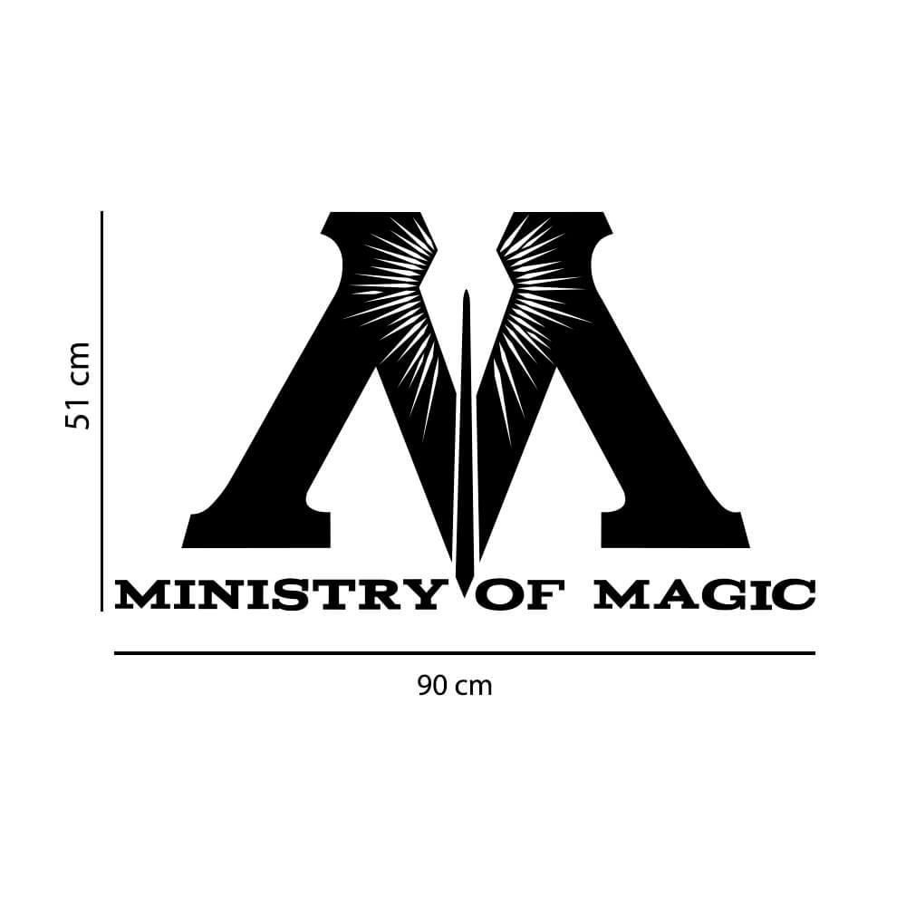 Adesivo Decorativo Ministério da Magia Harry Potter Hogwarts