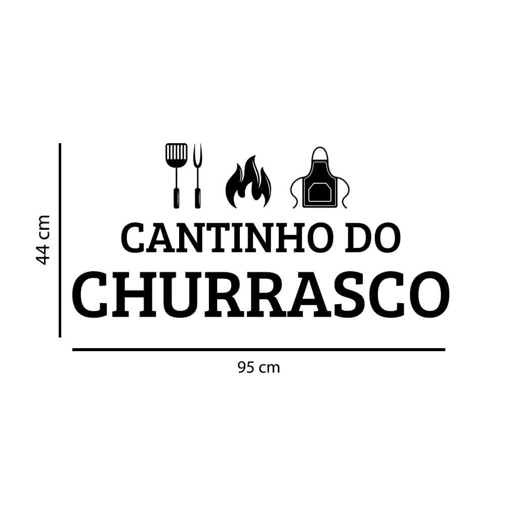 Adesivo Decorativo Parede Cantinho do Churrasco
