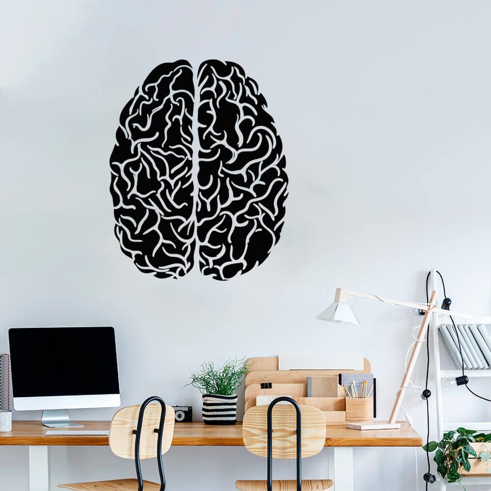 Adesivo Decorativo Parede Cérebro Humano