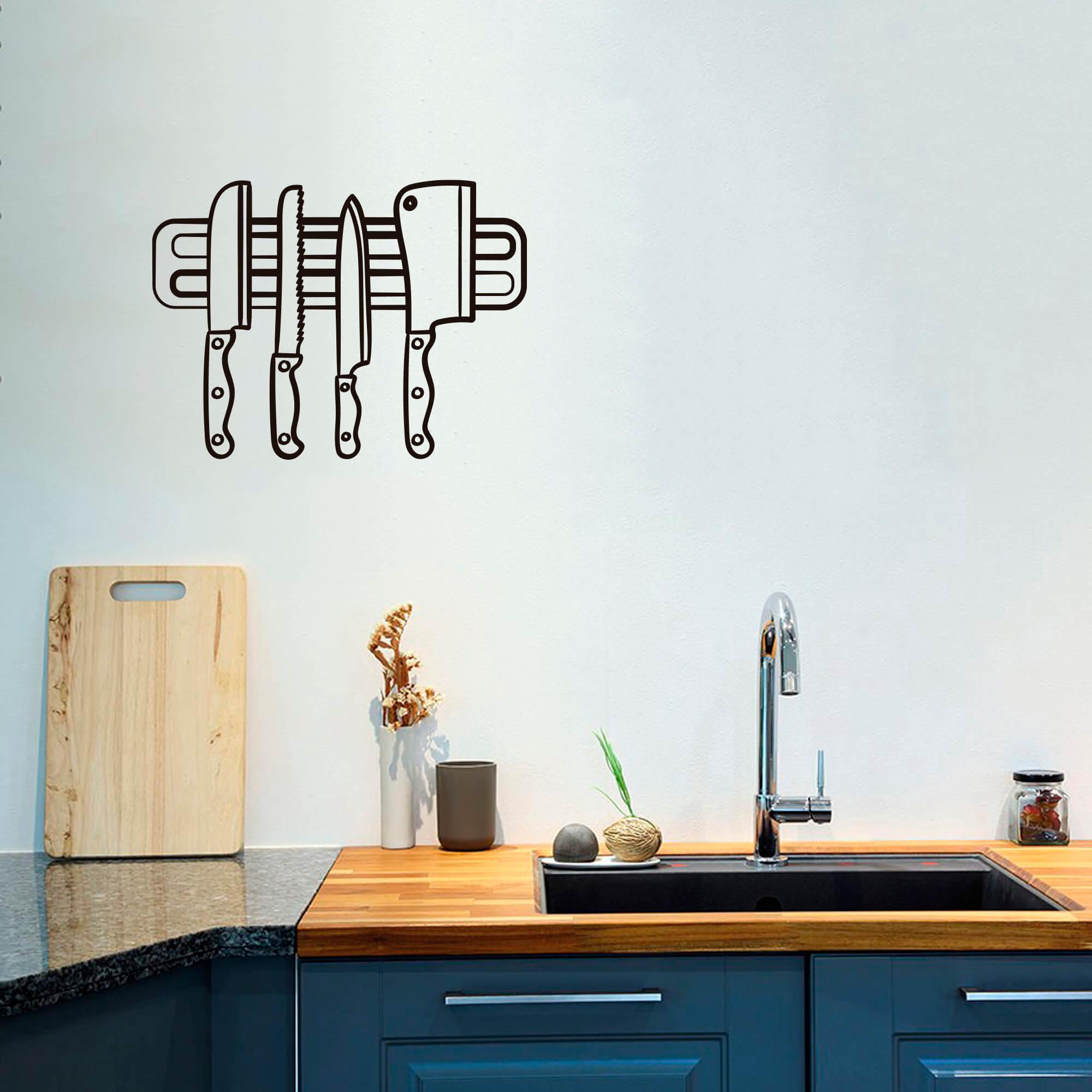 Adesivo Decorativo Parede Facas Cozinha