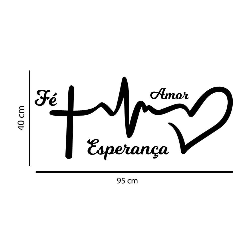 Adesivo Decorativo Parede Fé Amor Esperança
