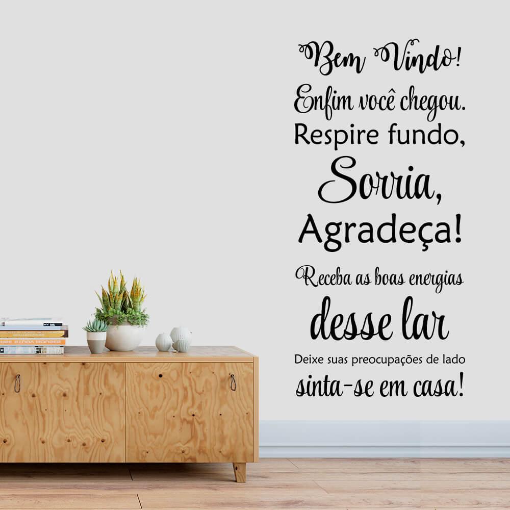 Adesivo Decorativo Parede Frase Bem Vindo