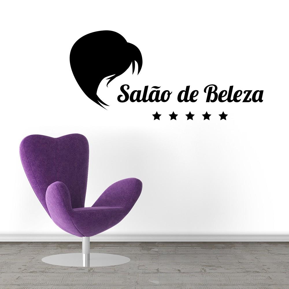 Adesivo Decorativo Parede Vidro Salão De Beleza Cabeleireira