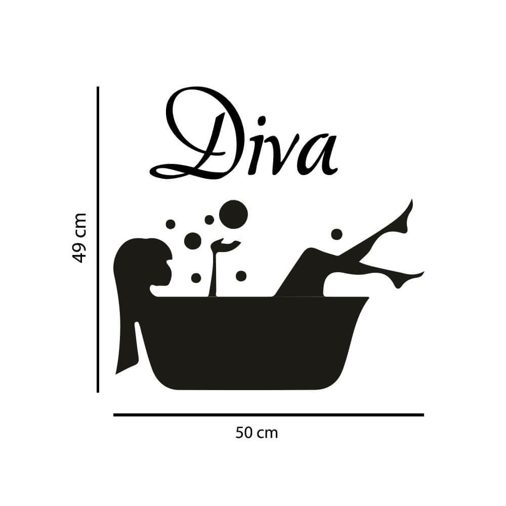 Adesivo Decorativo Porta Banheiro Diva