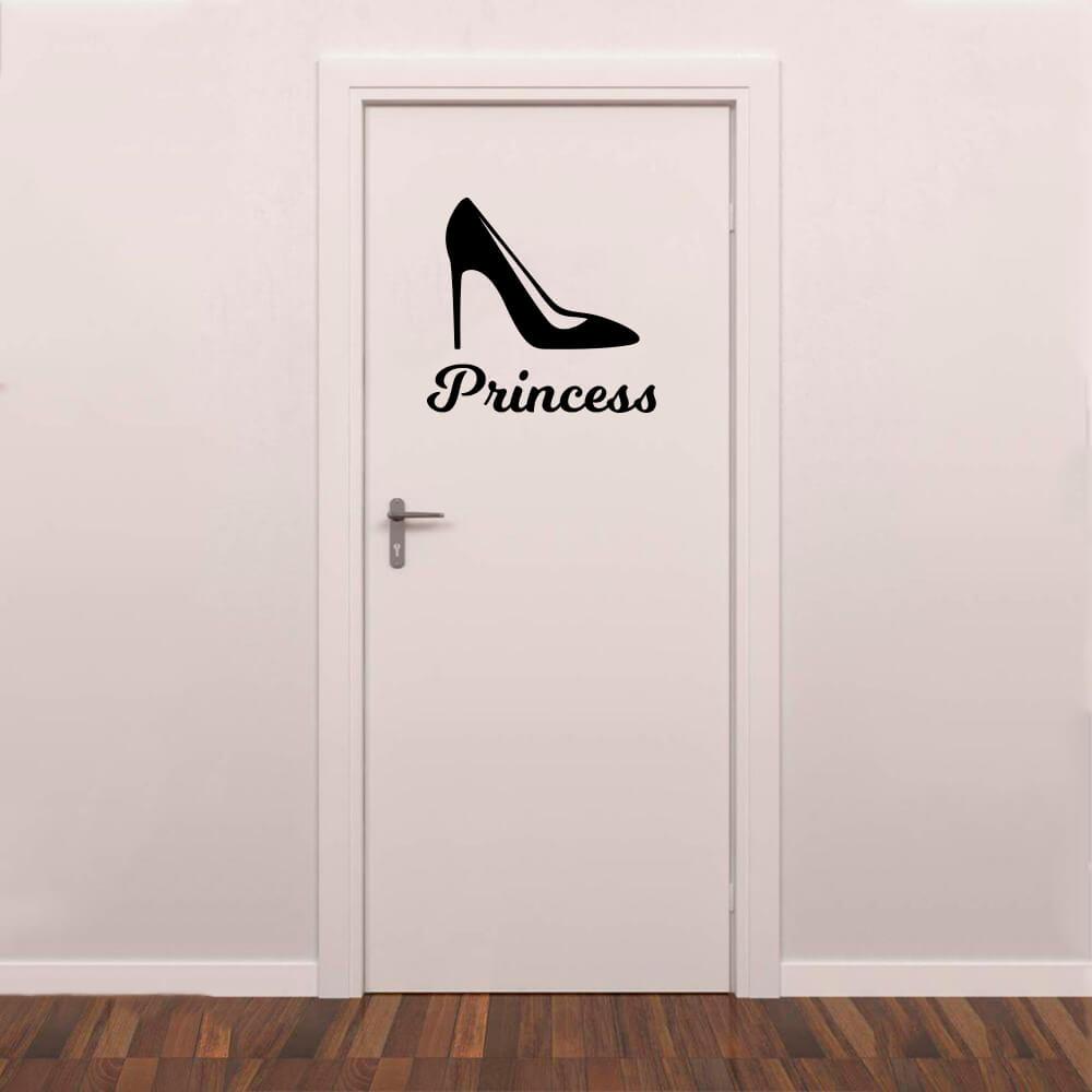 Adesivo Decorativo Porta Banheiro Princess