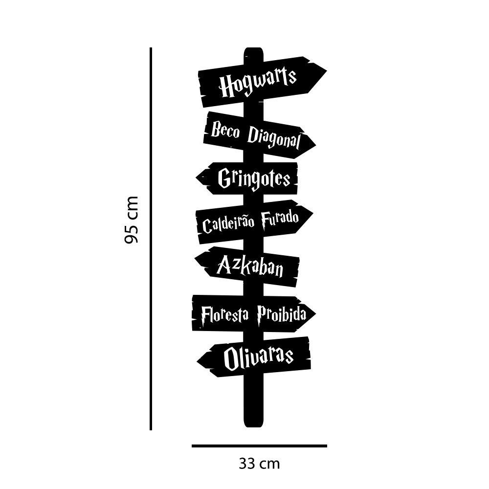 Adesivo Decorativo Seta Direção Harry Potter Hogwarts Azkaban