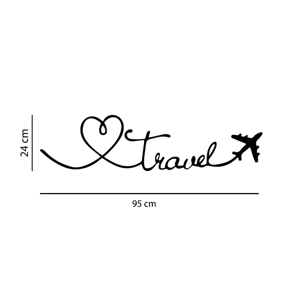 Adesivo Decorativo Travel Avião Coração Viagem Decoração Sala