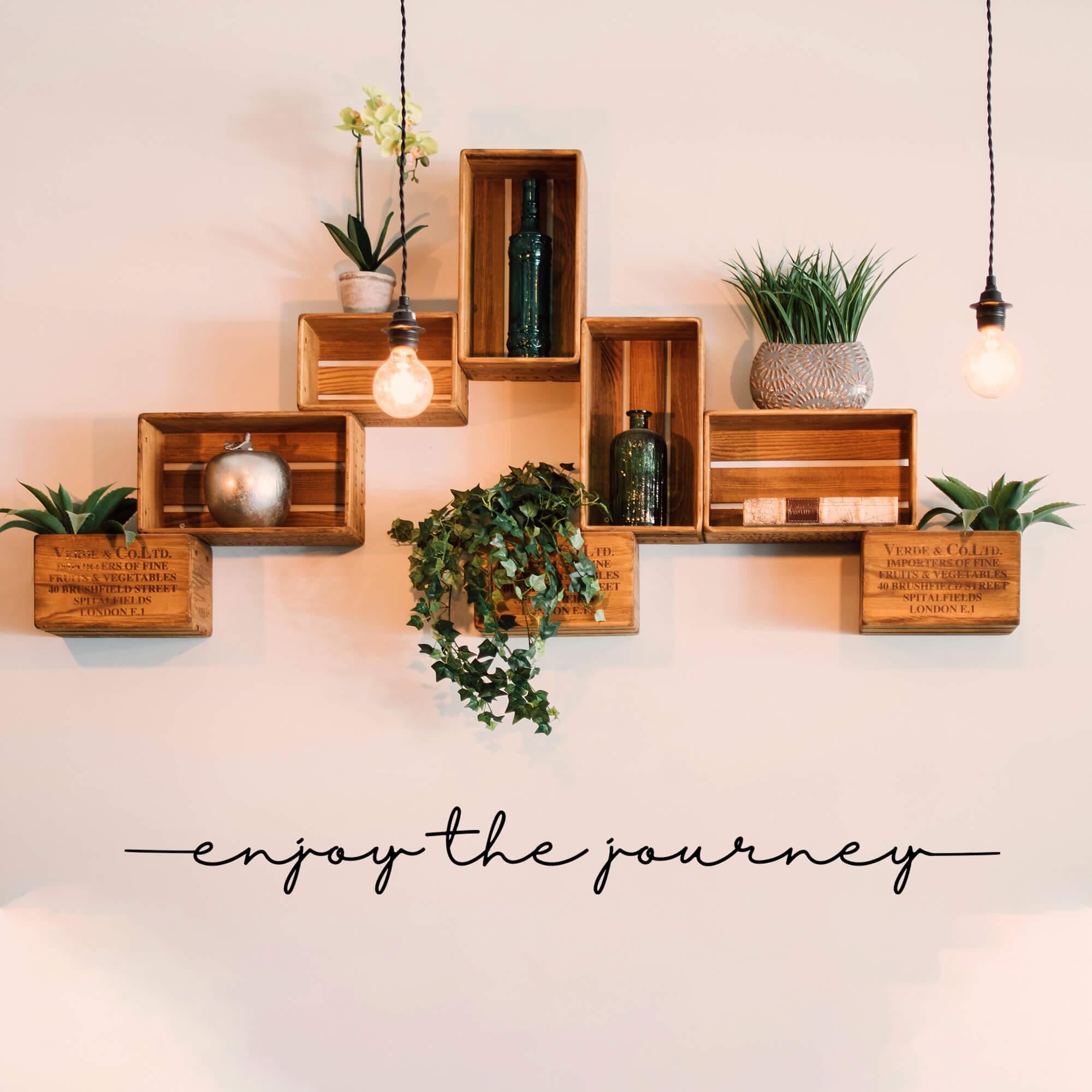 Adesivo Frase Inglês Enjoy The Journey - Aproveite a Jornada Decoração Sala Quarto