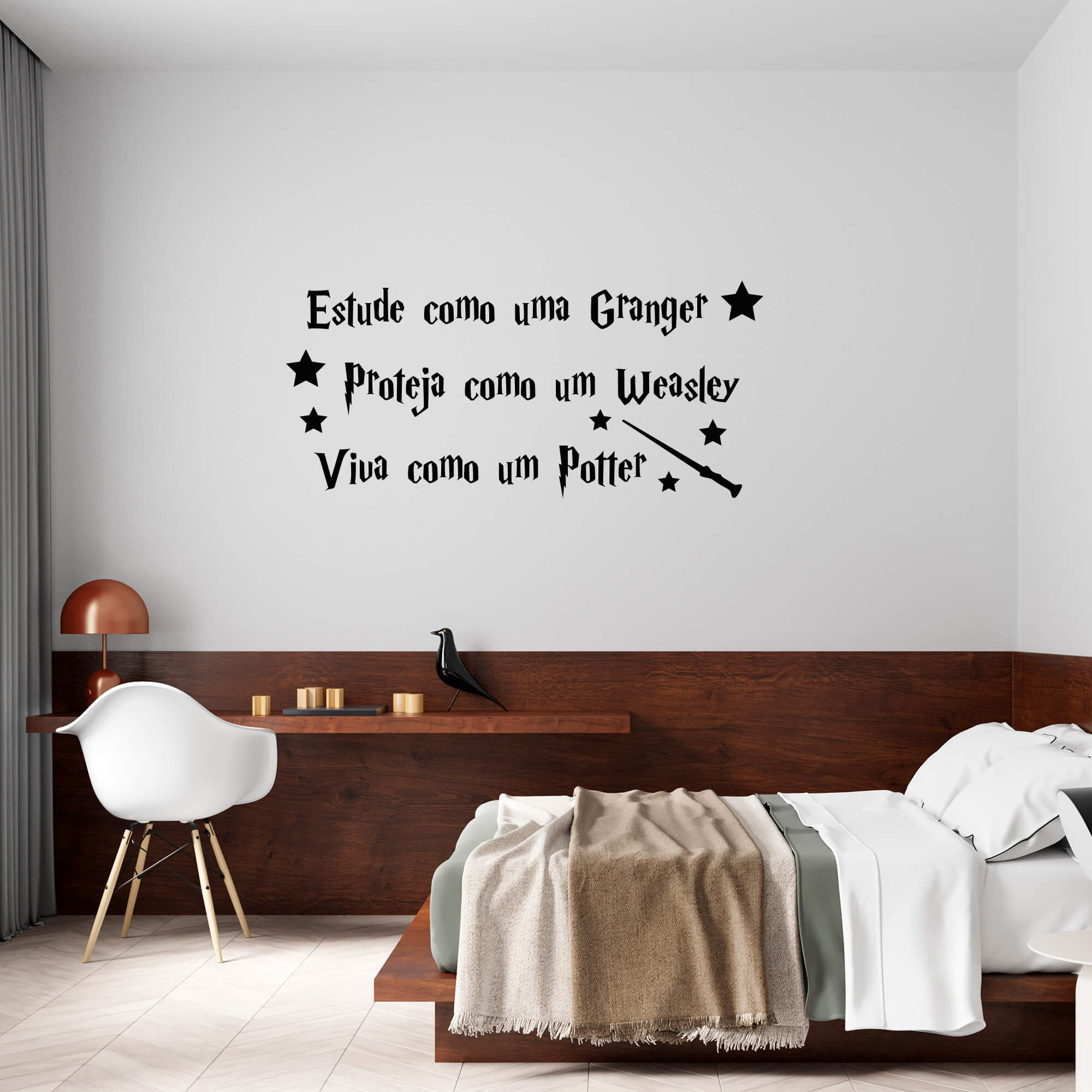 Adesivo Decorativo Frase Viva Como Um Potter Hogawarts Harry Potter Weasley Granger