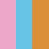 Rosa, Azul e Laranja