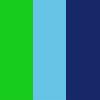 Azul, Azul Escuro e Laranja