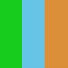 Azul, Verde e Laranja