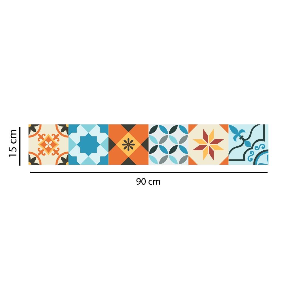 Faixa Border Adesivo Azulejo Hidráulico