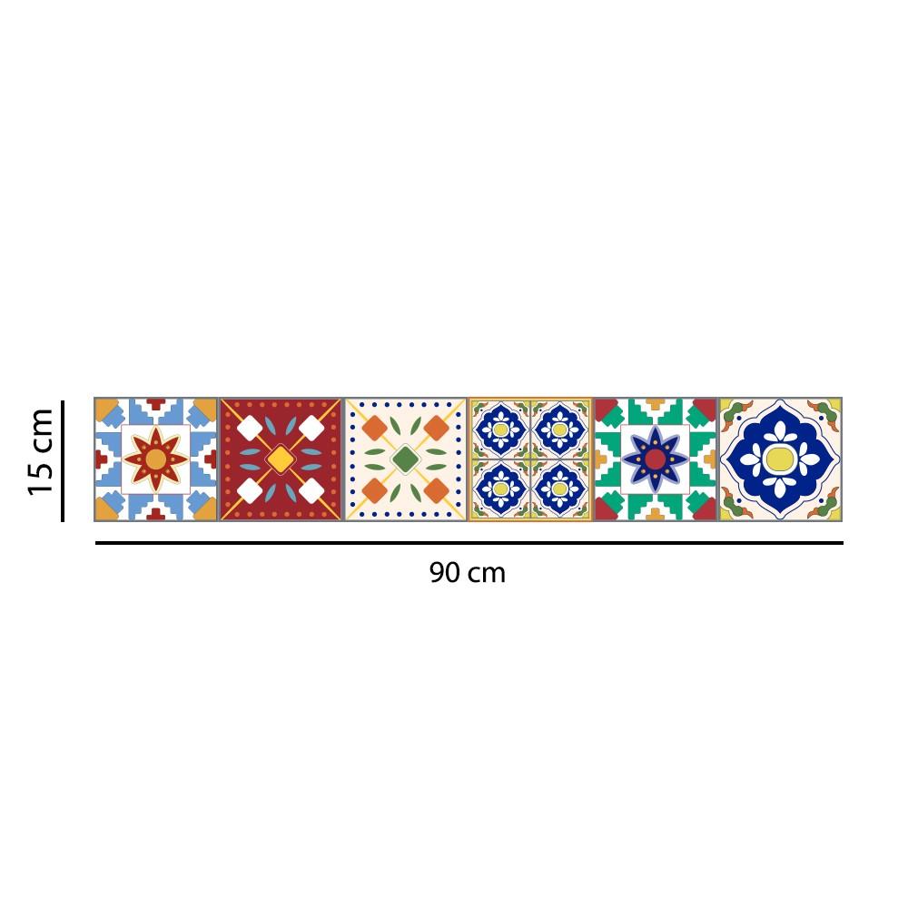 Faixa Border Adesivo Azulejos Hidráulicos