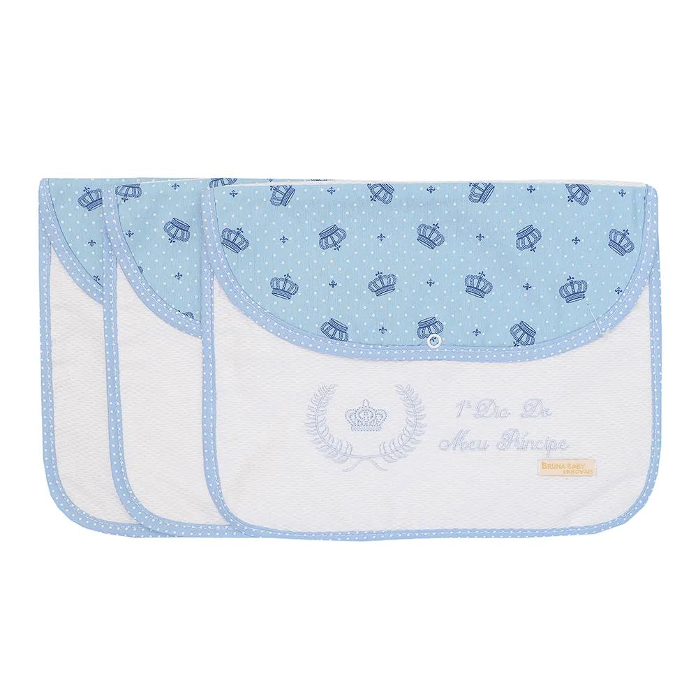 Kit 3 Peças Envelope Organizador Maternidade para 3 Dias Meu Príncipe