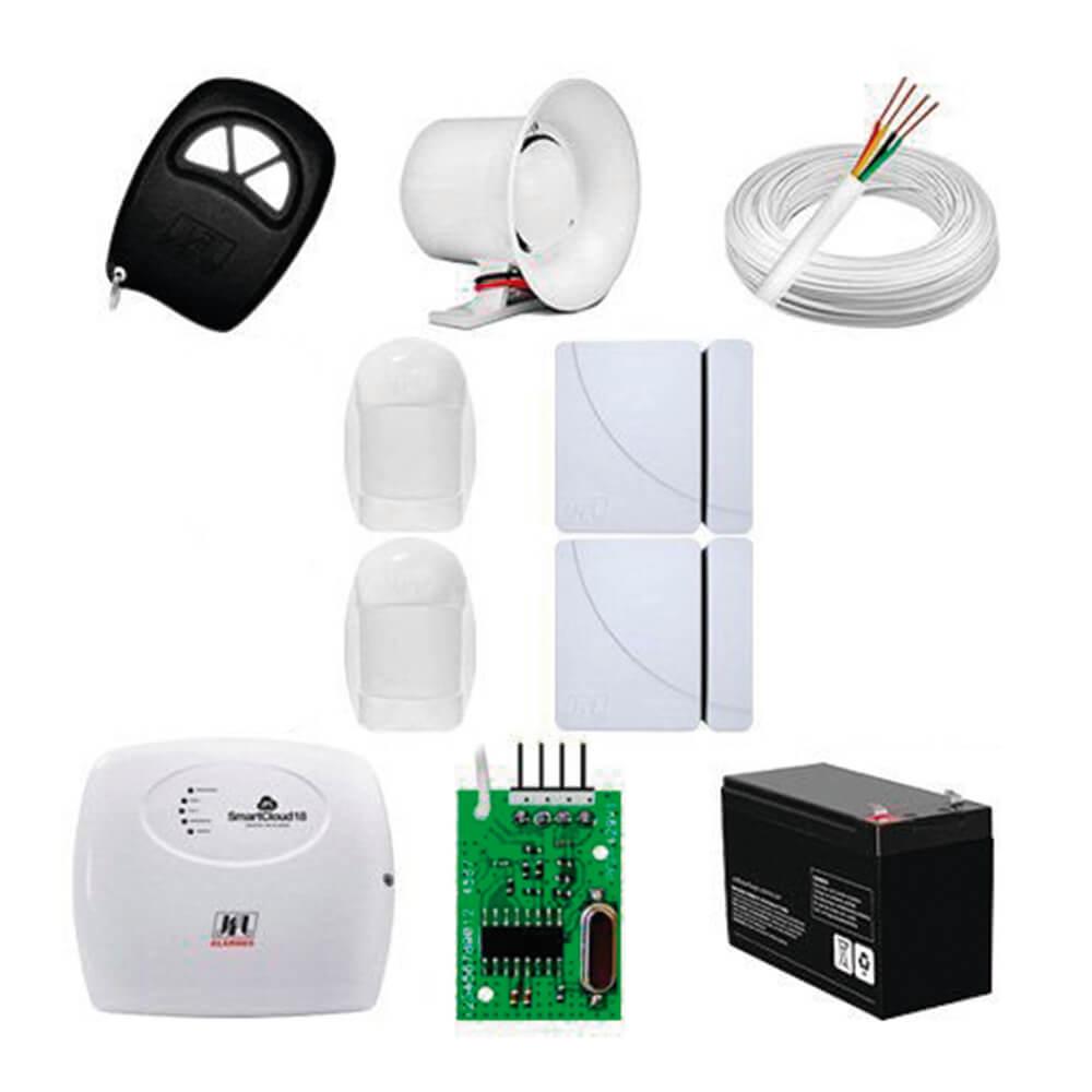 Kit Alarme Smart Cloud Com 2 Infra Bus E 2 Sensor Fit