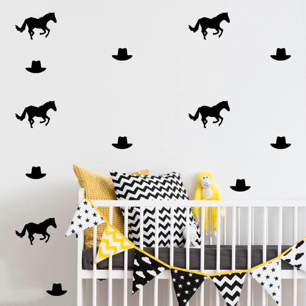 Kit de Adesivos Decorativos Cavalo Fazenda