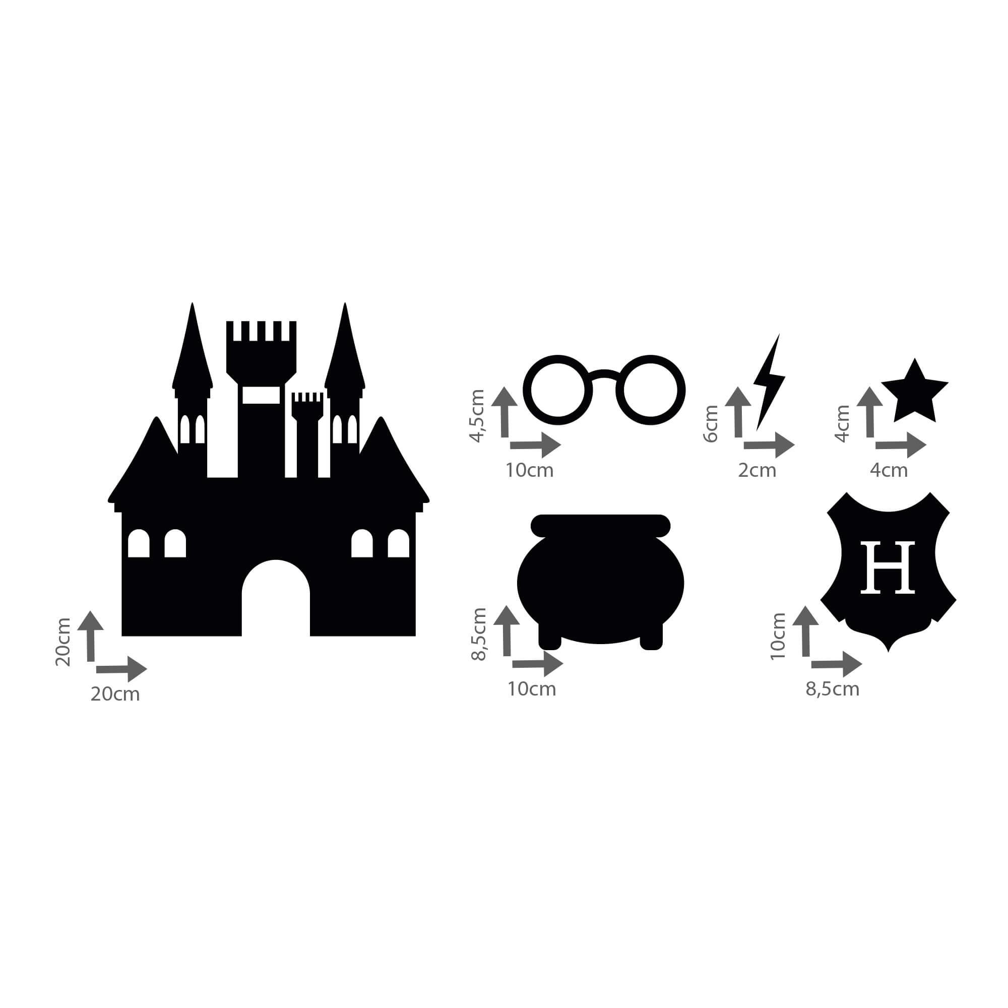 Kit de Adesivos Harry Potter Elementos Filme Hogwarts Azkaban Decoração Quarto