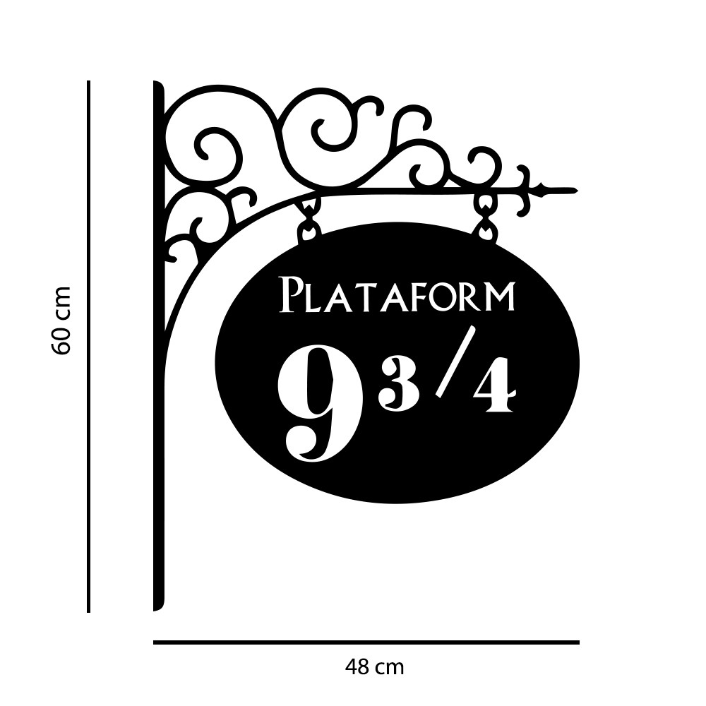 Kit de Adesivos Harry Potter Plataforma 9 3/4 Setas Direções Hogawarts