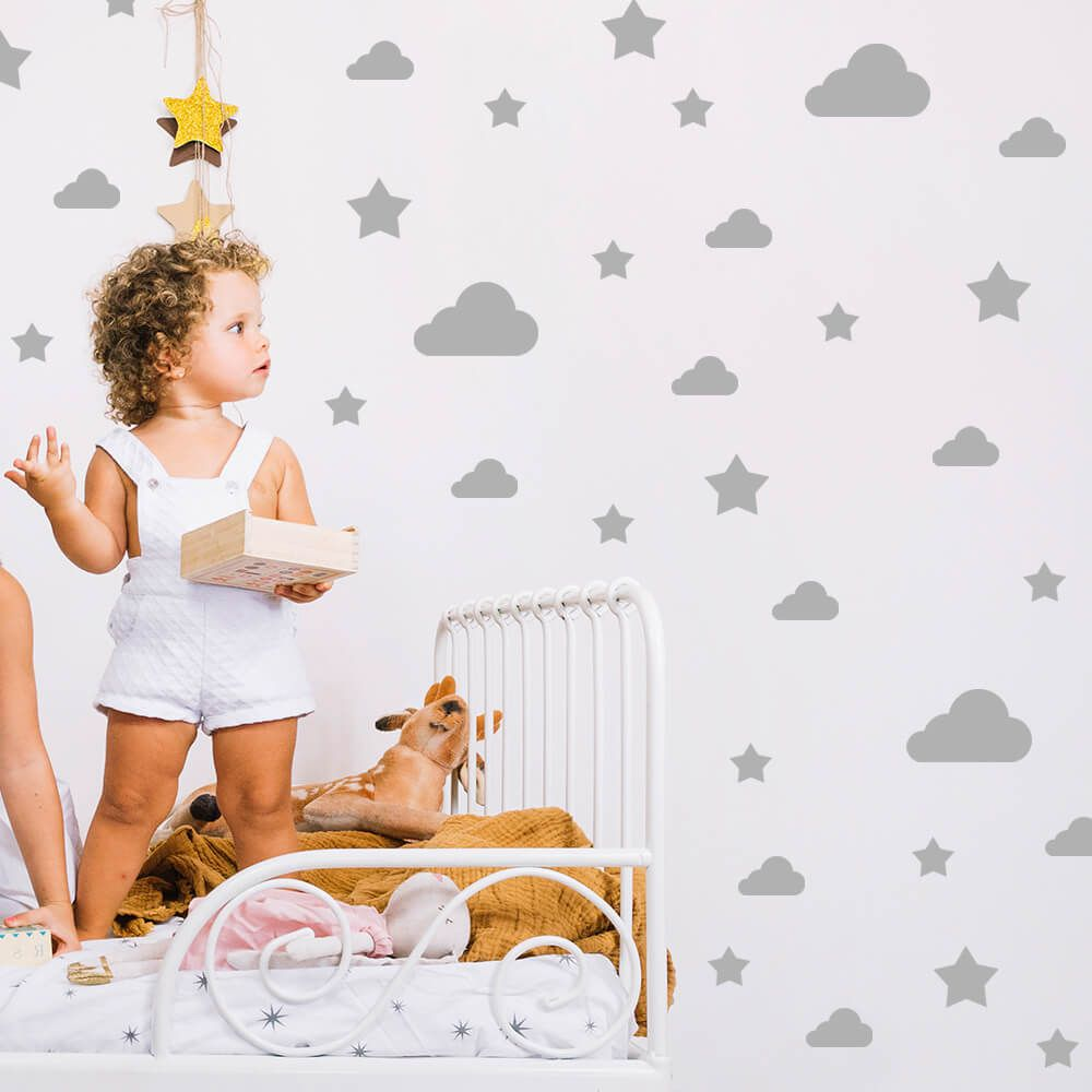 Kit de Adesivos Nuvens e Estrelas