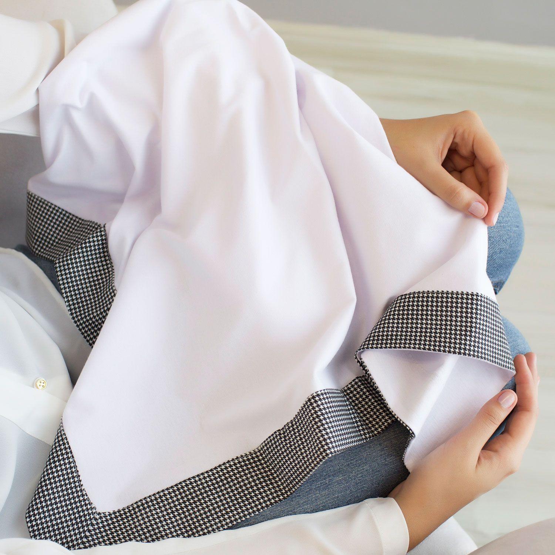Manta para Bebê Malha com Barrado Tricoline 100% Algodão