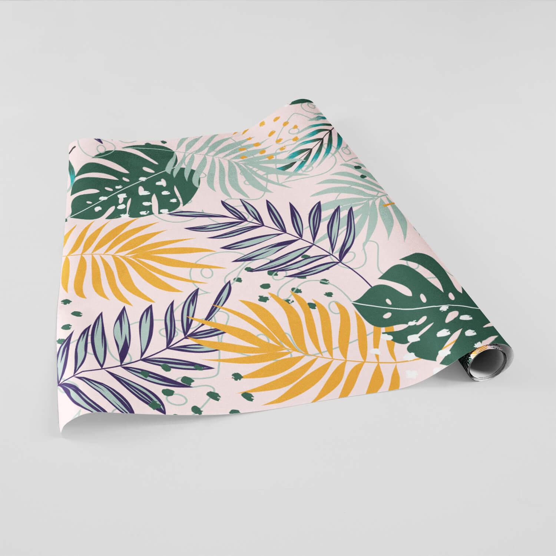 Papel de Parede Adesivo Folhagem Tropical Costela de Adão