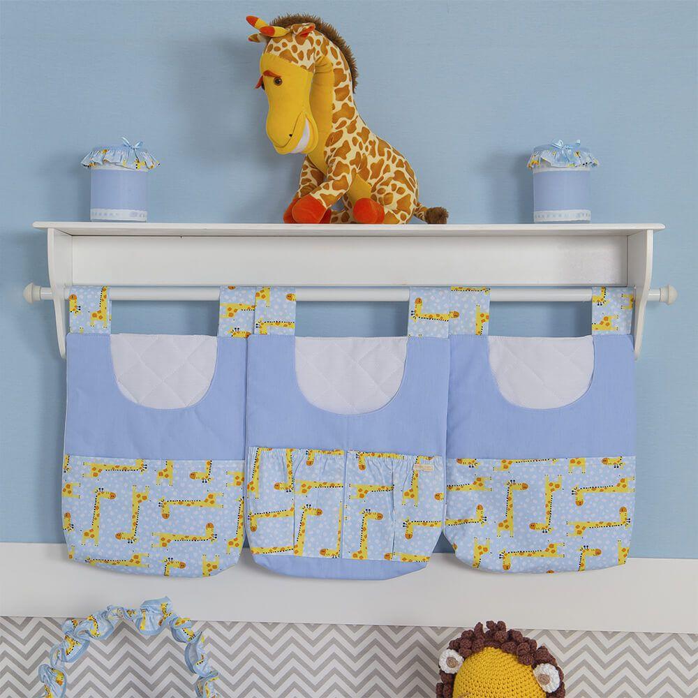Porta Treco 3 Peças - Coleção Girafinhas Azul