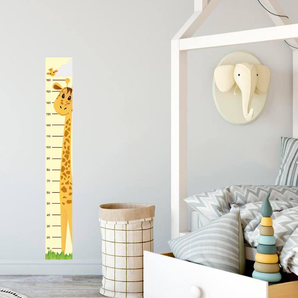 Régua Adesivo de Crescimento Girafinha Quarto Infantil