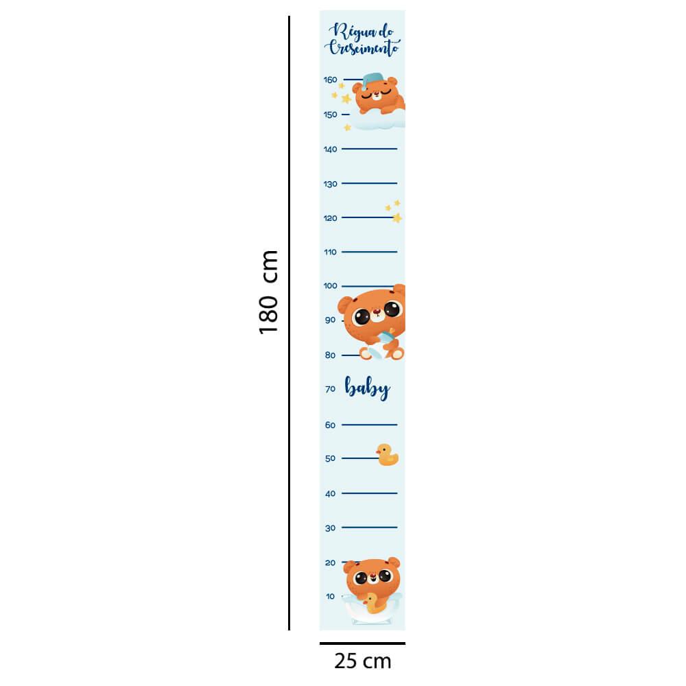 Régua Adesivo de Crescimento Ursinhos Baby Quarto Infantil