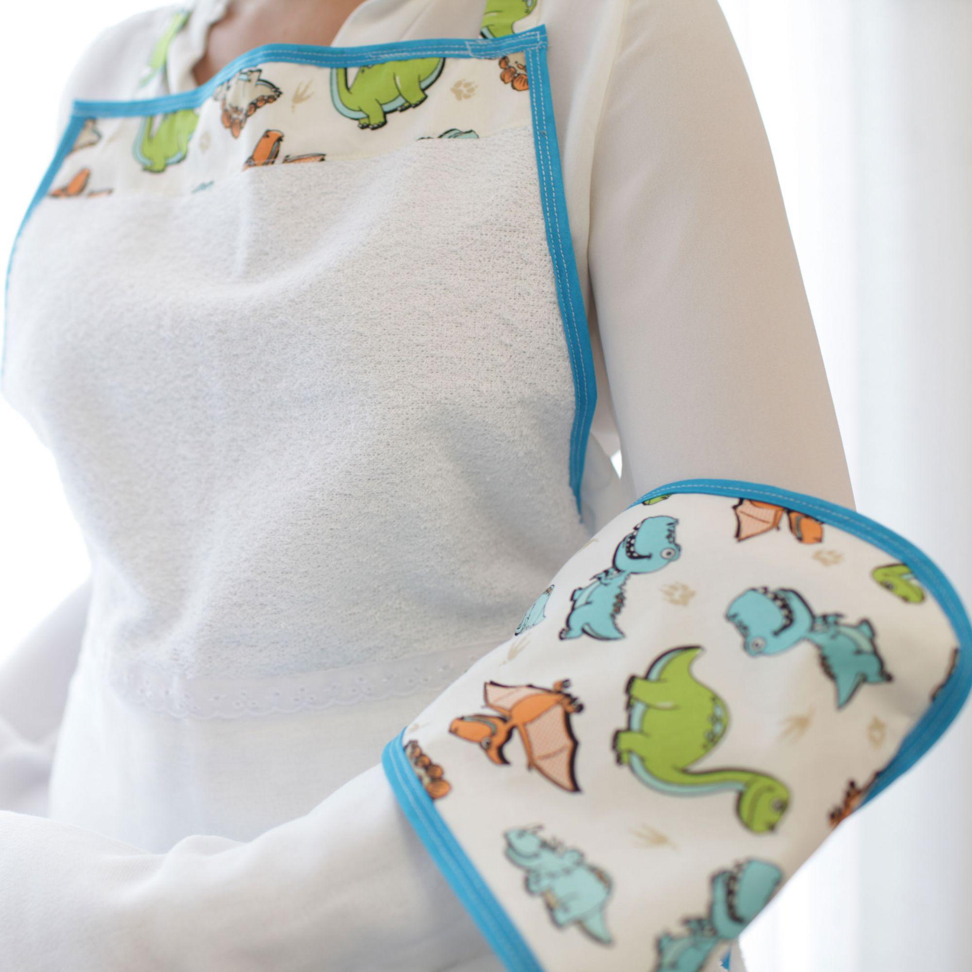 Toalha de Banho Avental Felpuda Forrada Fralda com Capuz Estampado