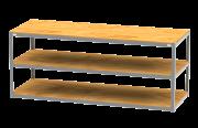BANCADA DE TRABALHO HOBBY PRO - 2200 X 800  mm - 3 TAMPO