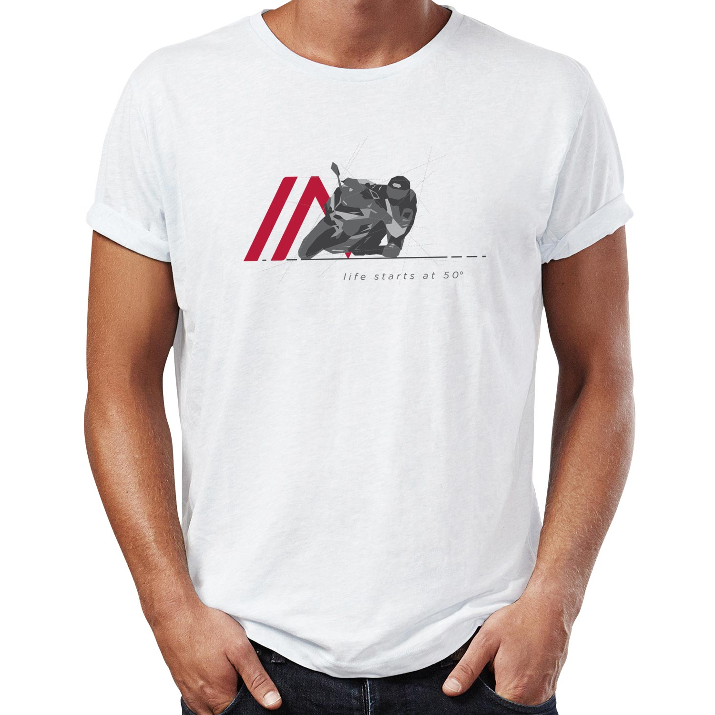Camiseta 50 graus branca