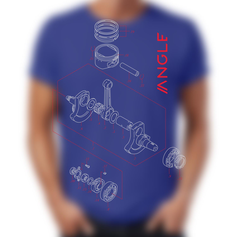 Camiseta Engine Indigo