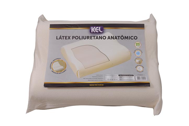 Travesseiro Látex de poliuretano ANATÔMICO