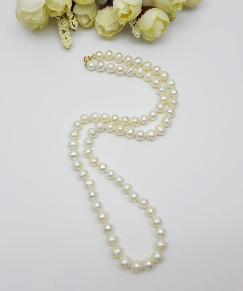 Colar Pérolas naturais   52 cm - fecho Ouro Nobre 18 k