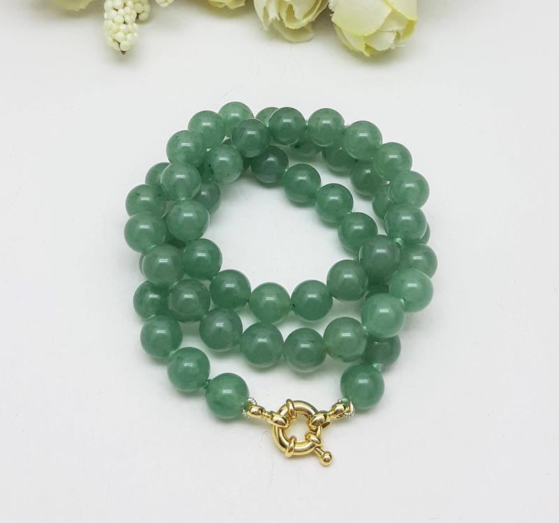 Colar quartzo verde 8 mm