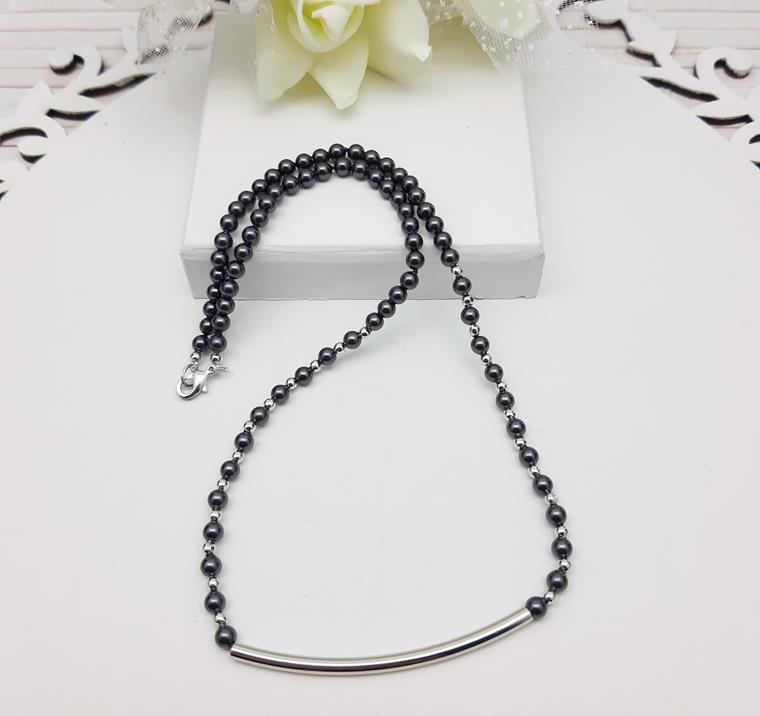 Colar Swarovski Black Pearl