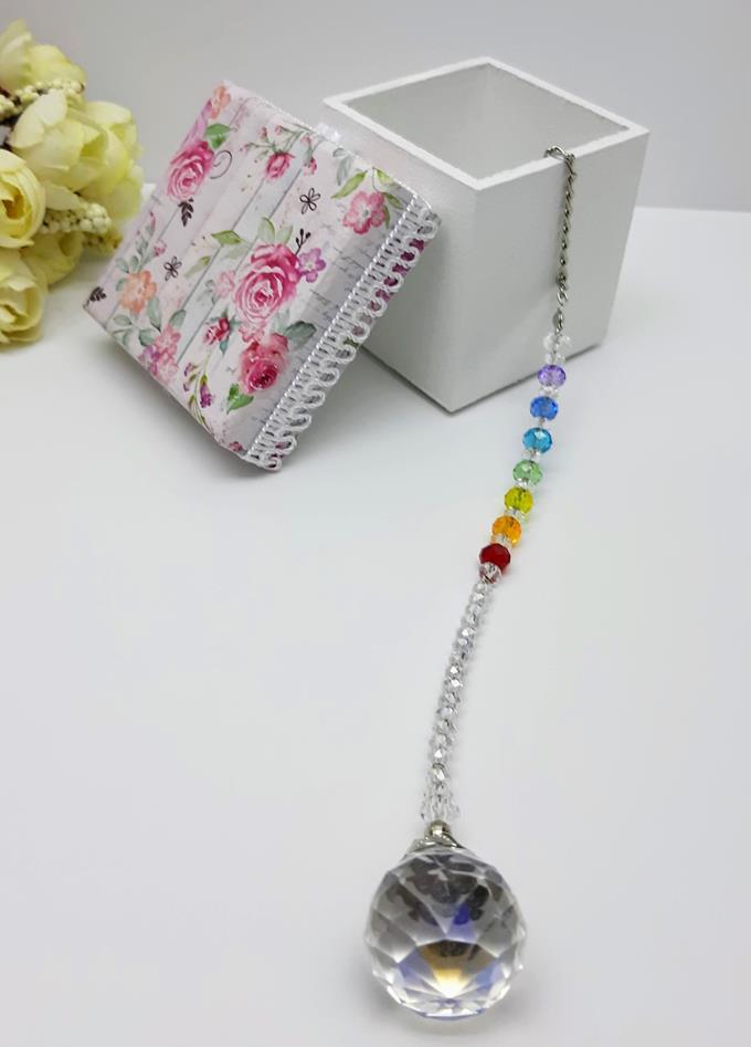 Mobile Fengshui Suncatcher  Cristal k9- 30 mm