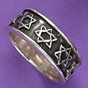 Anel de Estrela de Davi - 15317