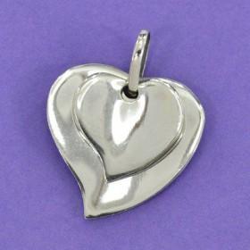 Pingente Coração Duplo - 33261