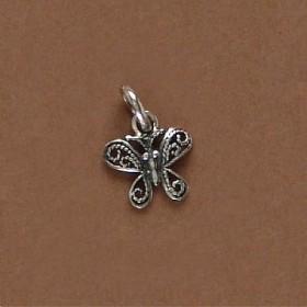 Pingente de Borboleta Pequena em prata 950 - 95302