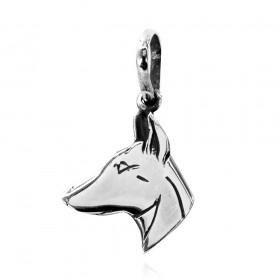 Pingente de Cabeça de Cachorro Doberman - 95467