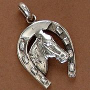 Pingente de Cavalo e Ferradura - 95134