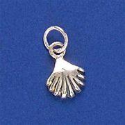 Pingente de Concha do Mar Pequena em prata 950 - 95295