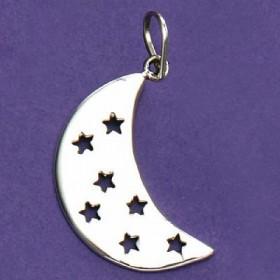 Pingente de Lua com Estrelas - 33143