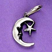 Pingente de Lua e Estrela - 3347