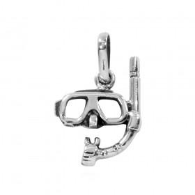 Pingente de Máscara e Snorkel Mergulho - 95281